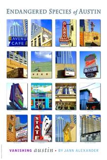 Endangered Species of Austin poster by Jann Alexander © 2013